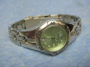 """Women's FOSSIL """"Blue"""" Water Resistant Diver's Watch AM3863 w/ New Battery"""