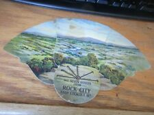 Vintage Hand Fan Cardboard Rock City Atop Lookout Mountain Georgia