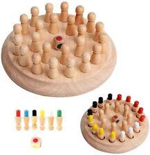 Memory Schachspiel Holz Denkspiel Lernspielzeug Kinder Geschenkidee Pädagogische