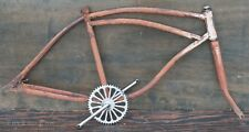 Shelby Flyer Bicycle FRAME Fork Crank Sprocket Headset Vintage Tank Cruiser Bike