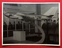 grosses Foto 13 cm x 17,8 cm um Flugzeugmodell 1958/60 Flugzeug Turbinen( F15548