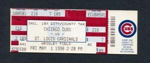 1998 Mark McGwire Home Run #12 Record Season Chicago Cubs vs St. Louis Cardinals