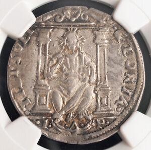 1501, Doges of Venice, Leonardo Loredano. Rare Silver 16 Soldi Coin. NGC AU-58!