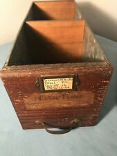 Vintage Duluth Industrial Screw and Bolts drawer, Wood and galvanized Nice!