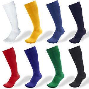 Boys Football Socks Rugby Hockey Soccer Sports Socks Plain Long Size UK 12.5-6.5