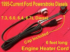 Ford Powerstroke Diesel 7.3 6.0 6.4 6.7 L Block Heater Cord w/ Cap F350 F250