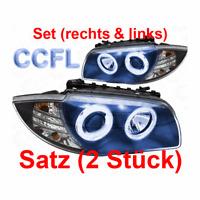 Set Scheinwerfer für BMW  E87 04-11 klarglas/schwarz CCFL Angel Eyes H7+H7 B1Q