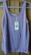 Zara NWT Lilac Cool Lightweight Linen Knit Vest Size L summer