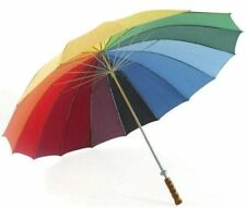 Rainbow coloured Golf Umbrella - 16 panels