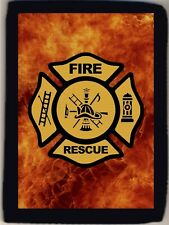 Firefighter Fireman Fire & Rescue Hero Gift Trifold Wallet Grab Closure New