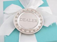 Spades Heart Clover Cards Circle Coin Tiffany & Co Silver Dealer Ace