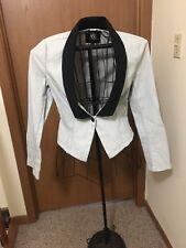 Women's Rock & Republic Light Grey With Black Collar Sports Coat