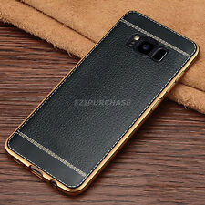 Black Luxury Ultra-thin Soft TPU Leather Case Cover For Samsung Galaxy S8 S001