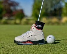 🔥Air Jordan V Retro White/Fire Red/Ice Sole Blade Putter Head Cover Nike Golf🔥
