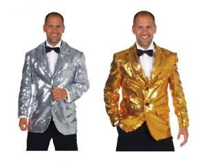 Jackett Pailletten Kostüm Show Anzug Disco Party Cabaret Kabarett Theater Sakko
