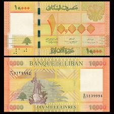 Lebanon 10000 10,000 Livres, 2012/2014, P-92, UNC