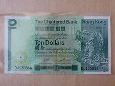 Hong Kong Chartered Bank $10 1st January 1981 (aUNC, light fold at center), A