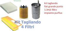 KIT FILTRI TAGLIANDO FIAT GRANDE PUNTO 1.3 MJT KW 66 CV 90 purflux