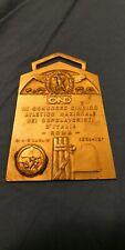 Italian Fascist Medal Plaque Ond Placca Medaglia Fascista Gold And Silver 1931