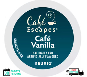 Cafe Escapes Cafe Vanilla Keurig Coffee K-cups YOU PICK THE SIZE