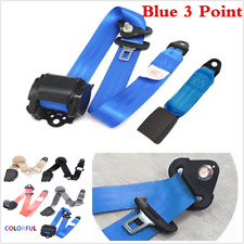 3 Point Adjustable Seat Belt Lap & Diagonal Belt Straps w/ Quick Release Camlock