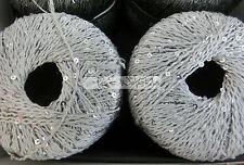 Schulana Lustrino 25 G Farbe 150 Silber Seide Pailletten