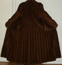 "NEW Showroom Saga Mink 52"" Long Finest Quality Mahogany Mink Fur Coat Size 4-6"