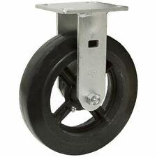 "6"" x 2"" Rigid Plate Caster Rubber Tire On Cast Iron Wheel 1-1721-R"