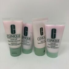 Clinique Rise Off Foaming Cleanser Cream Mousse 4 Bottles Travel Samples 1oz