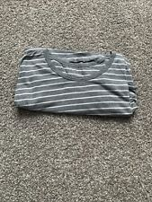 Lululemon 5 Year Basic T Men's Heathered Gray Shirt w/ White Stripes Size Xxl