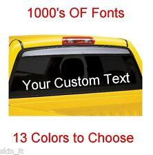 Personalised Custom Rear Window Car Stickers Vinyl Name Lettering Decals