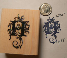 Monogram Letter H rubber stamp  WM P41