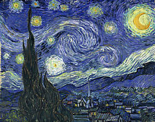 THE STARRY NIGHT 16x20 CANVAS PRINT VINCENT VAN GOGH PAINTING FAMOUS ART RARE