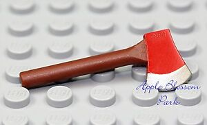 NEW Lego City Minifig FIREMAN AXE Brown Red Firefighter Fire Tool w/Silver Blade