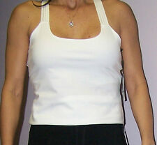 CALVIN KLEIN PERFORMANCE QuickDry Workout PRETTY built in Bra Top WHITE S
