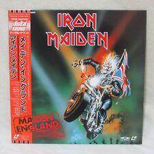 """IRON MAIDEN """"MAIDEN ENGLAND"""" TOLW-3042 Laserdisc LD Japanese OBI"""