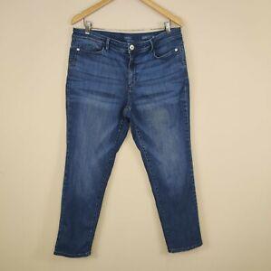 J. Jill Size 16 Authentic Fit Slim Ankle Jeans Stretch Denim Women's