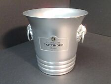 Vintage Taittinger Reims Champagne Ice Bucket Aluminum Made in France