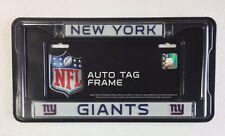 NY New York Giants Chrome Metal License Plate Frame - Auto Tag Holder - NEW