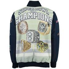 Dallas Cowboys Commemorative Super Bowl Sublimated Ring Jacket - Adult 4XL