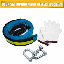 8 Ton 8T 5M Tow Towing Pull Rope Strap Heavy Duty Road Recovery Car Van AU Stock