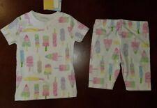 Kissy Kissy Popsicle Toddler Girl Pajamas New 2T Pima Cotton READ