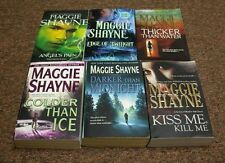 MAGGIE SHAYNE 6 books THICKER THAN WATER, DARKER THAN MIDNIGHT, EDGE OF TWILIGHT