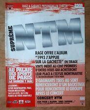 Publicité advert album concert advertising NTM 1993 j'appuie sur la gachette