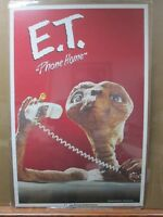 Vintage Poster E.T. The Extra-Terrestrial Movie 1982 Alien Inv#G3876