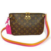 AUTHENTIC LOUIS VUITTON Loretta M44053 Shoulder Bag Cross body Monogram Ho...