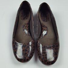 eb919531c450 BOC Born Concept Womens Brown Patent Leather Leopard Print Ballet Flats SZ 6