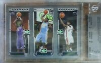 LeBron James Topps 2003-04 Rookie Matrix Carmelo Bosh Graded BGS 9 Mint Low Pop
