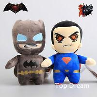 Cute Batman vs. Superman Dawn of Justice Plush Toy Soft Stuffed Doll 8'' Teddy