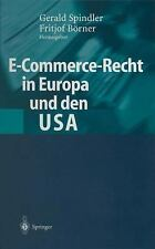 Adaptations of De Organisms Ser.: E-Commercee-Recht in Europa und den USA by...
